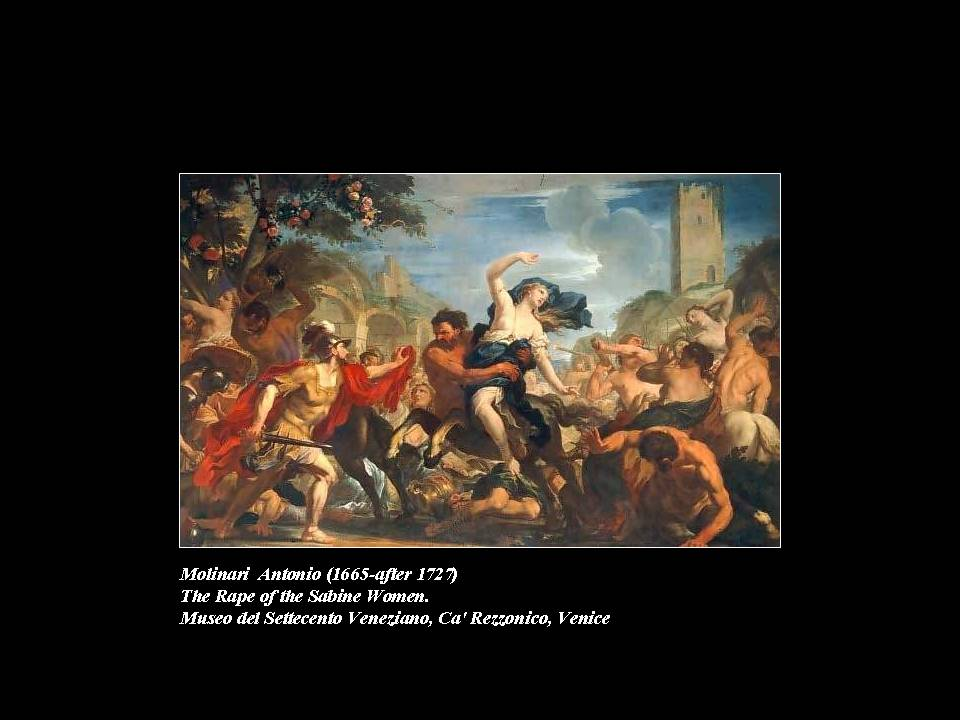 the abduction of the sabine women Abduction of the sabine women louvre museum, paris by nicolas poussin background a major figure in baroque painting, nicolas poussin was a 'philosopher.