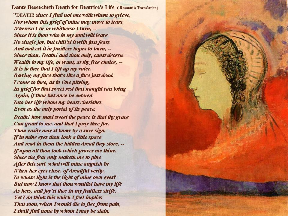 dante and beatrice his ultimate perfection essay The reason for dante's pilgrimage through the inferno and up the climb of purgatorio is finally revealed to the poet by beatrice herself when she comes to lead dante to the ultimate vision in paradiso.