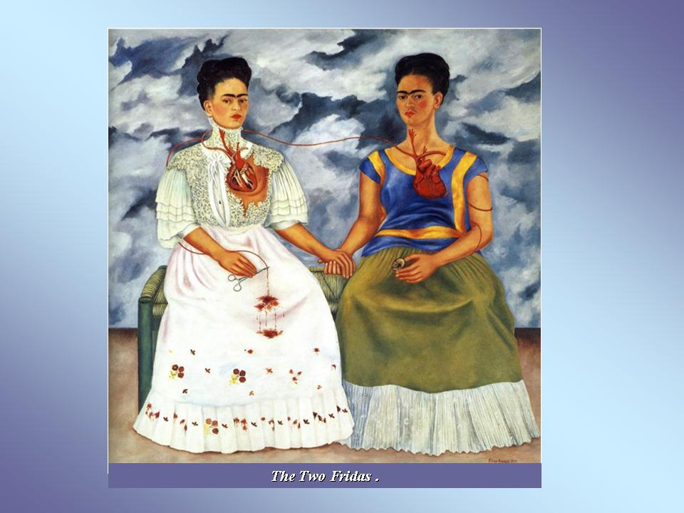 the two fridas analysis The double self-portrait the two fridas, 1939 (above) features two seated figures holding hands and sharing a bench in front of a stormy sky the fridas are identical twins except in their attire, a poignant issue for kahlo at this moment.